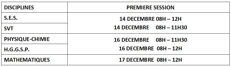 2eme programmation decembre 20