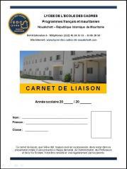 Couverture carnet de liaison